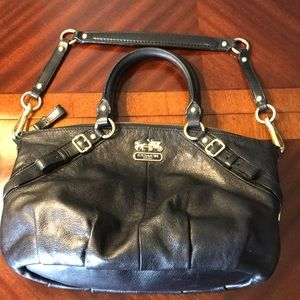 Coach Madison Sophia black leather purse